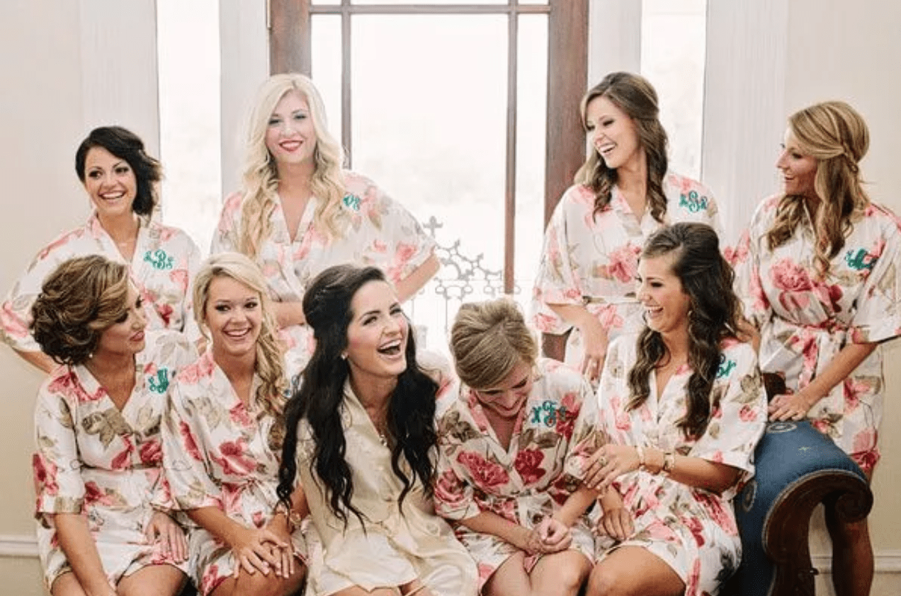 Bridal party in bridal suite