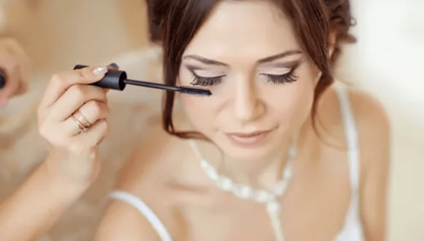 Bride Putting on Mascara